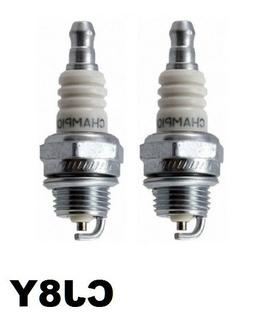 2 Champion CJ8Y Spark Plug Replaces NGK BPM6A, BPM4A Small E