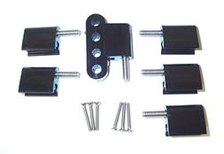 Taylor 42705 Bracket Vertical 4/Pkg Black