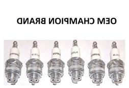 6 Pack Champion Spark Plug RJ19LM