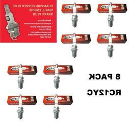 8 Genuine Champion Spark Plug RC12YC Copper Plus For Briggs