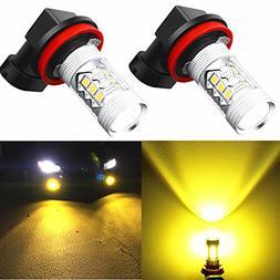 Alla Lighting Super Bright H11 LED Fog Lights 2000 Lumens Hi