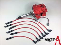 A-Team Performance HEI DISTRIBUTOR RED SPARK PLUG WIRES Comp