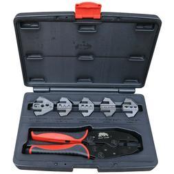 Automotive Cable Crimping Kit 5 Die Quick Change Ratchet Cri