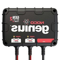 NOCO Genius GENM2 8 Amp 2-Bank Waterproof Smart On-Board Bat