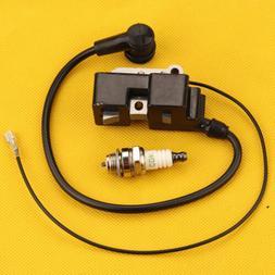 Ignition Coil Spark plug For Husqvarna 340 345 350 351 353 3