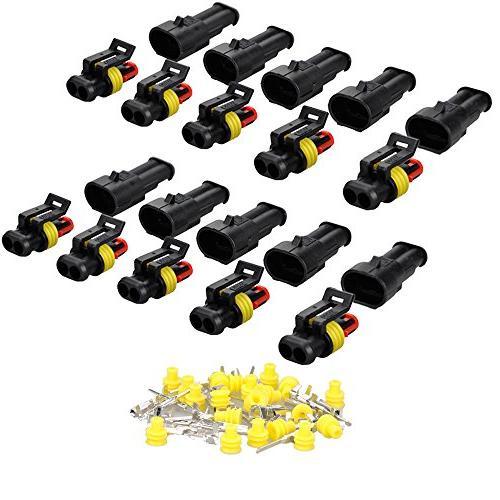 MUYI 10 Kit Set 2 Pin Way Terminals Connector Plug 1.5mm Wat