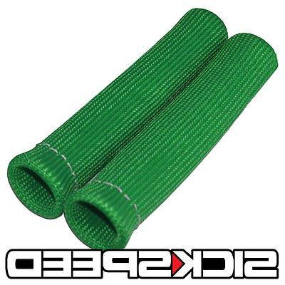 """4 PC GREEN SPARK PLUG WIRE PROTECTOR//INSULATOR SHIELD SLEEVE//BOOT 1/"""" INCH A"""