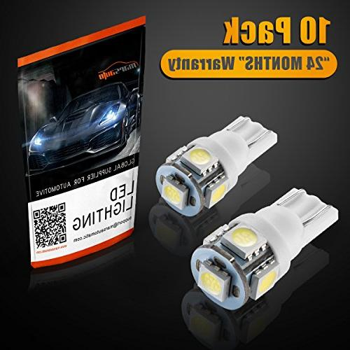 Marsauto 194 LED Light Bulb 6000K 168 2825 Bulbs Car Map License Plate Lights