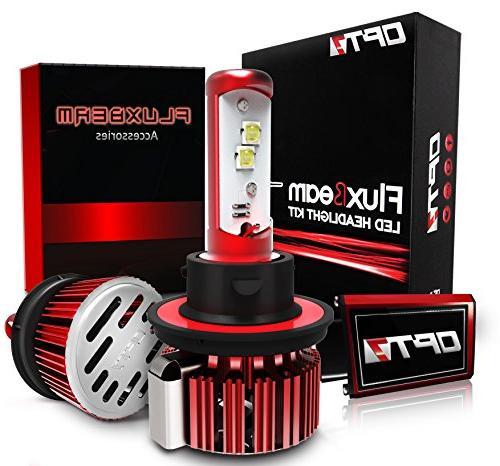 OPT7 Fluxbeam LED Headlight Kit w/Clear Arc-Beam Bulbs - H13