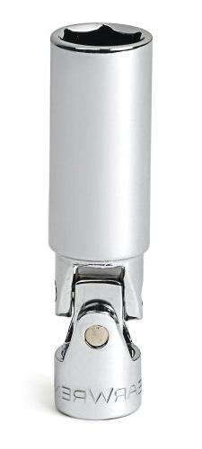 GearWrench 80405 3/8-Inch Drive Swivel Spark Plug Socket 13/