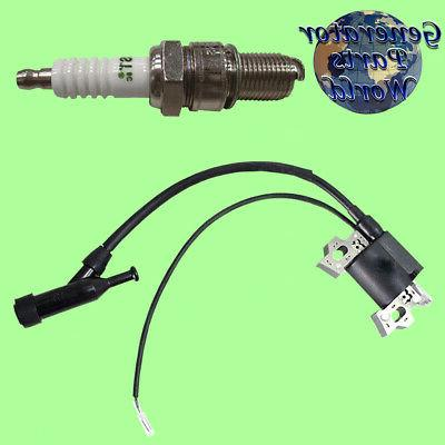 ignition coil and spark plug for powersports