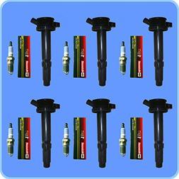 New Motorcraft Spark Plug SP433 Set  + ADP Ignition Coil  Fo
