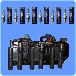 New NGK Iridium IX 5464 Spark Plug Set  +  AD Auto Parts Ign