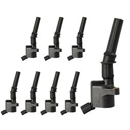 Pack of 8 Curved Boot Ignition Coil for Ford Lincoln Mercury