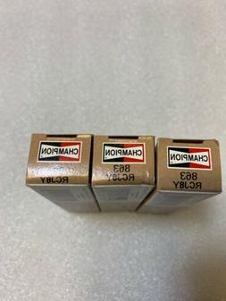 RCJ8Y / 863 Champion Copper Plus Spark Plugs x4