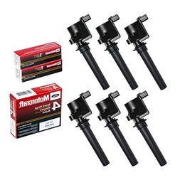 MAS Set of 6 Brand New Compatible Ignition Coil and 6 Motorc