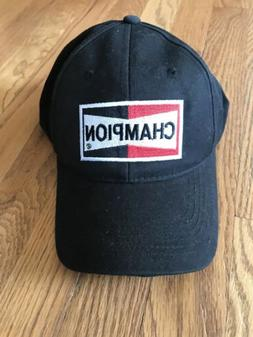 Champion Spark Plug Hat Cap One Size Adjustable Black Advanc