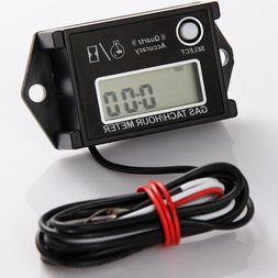 New Digital Tiny Tachometer Tach Hour Meter Job Timer Resett
