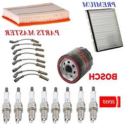 Tune Up Kit Air Cabin Oil Filters Wire Spark Plugs for CHEVR