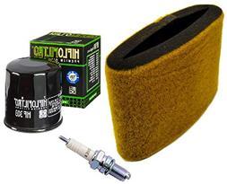 Tune Up Kit Air Filter Oil Filter Spark Plug ATV Kawasaki Pr