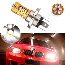 cciyu 1 Pack Xenon White H4 9003 Cree LED 54 SMD Motorcycle